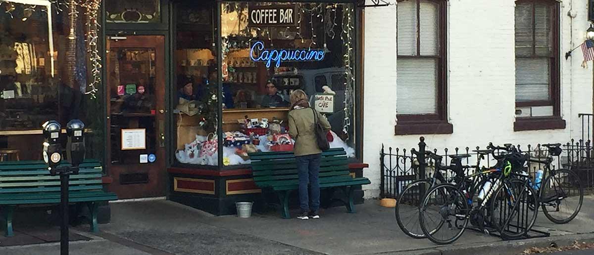 Bike Rack at Coffee Shop